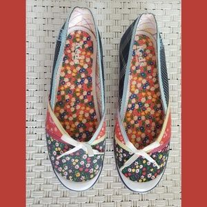 Keds Floral Patchwork Slip On Shoes Sz 8